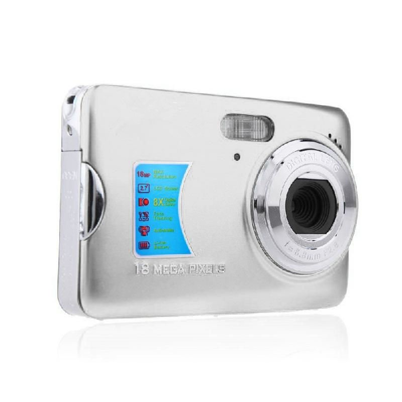 "2.7"" Digital Camera TFT LCD Monitor 8X Digital Zoom Take Photo HD Video"