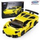 XingBao Xb 03008 Yellow Flash Racing Car 834 pcs Building Blocks Set