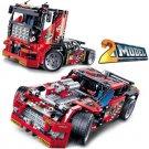 3360 Race Truck Car 2 In 1 Transformable Model 608 Pcs Decool Building Block Set