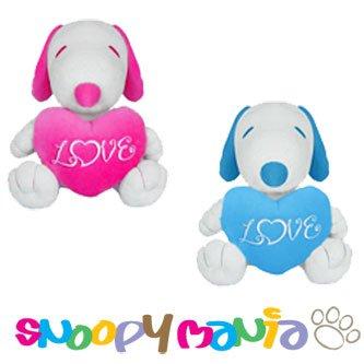 Snoopy Hugging LOVE heart Plush doll