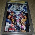 Marvel Comics Avengers VS X-men 1 CGC NM+ 9.8 SS Signed Romita JR Cheung 6/12 HG
