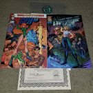 1 2 Image Comic Danger Girl Preview Gen 13 Signed J Scott Campbell Rare DF COA
