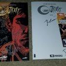 2 Image Comics Outcast 1 NM Signed X8 Cast Sketch Cover Skybound Con book 7/15