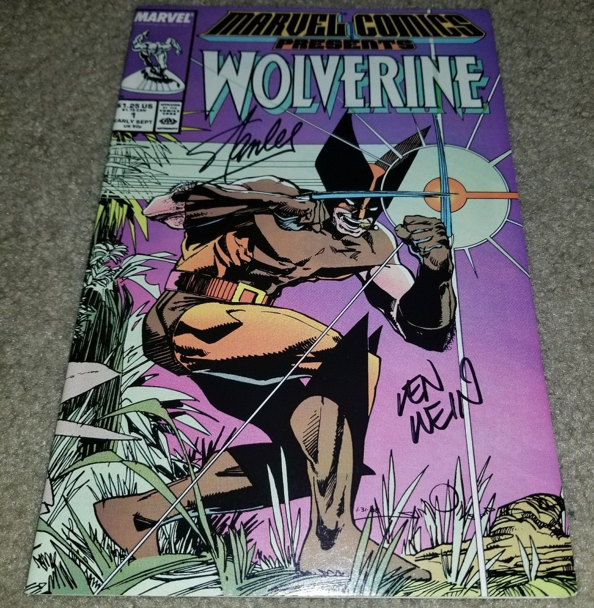 Marvel Comics Presents Wolverine 1 NM Signed Stan Lee Len Wein Copper 9/88 book
