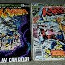 2 Marvel Comics Uncanny X-men 120 121 1st App Alpha Flight Bronze 4/79 Key books
