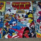 Marvel Comic Infinity War 1 2 3 NM+ 6/92 Set Thanos Avengers Spider-man key book