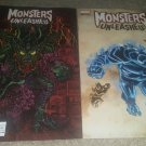 1 Set 2 Marvel Comics Monsters Unleashed 5 NM Superlog Design Variant 5/17 book