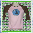 Ladies Raglan T-shirt with Yoga Harmony Lotus Pose XL