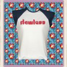 Flawless Flirty Word Art Ladies Cap Sleeve Raglan T-Shirt Large