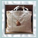 Maine Coon Cat Embroidery Shopping Tote Bag