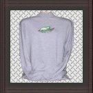 Men Cotton Mock Turtleneck with Iguana Embroidery Large
