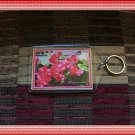 Bougainvillea Flowers Floral Photo Plastic Key chain
