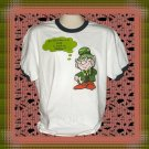 Funny Irish Shillaly Leprechaun Cotton Ringer T-shirt XL