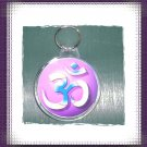 Yoga Rainbow OM Plastic Key chain
