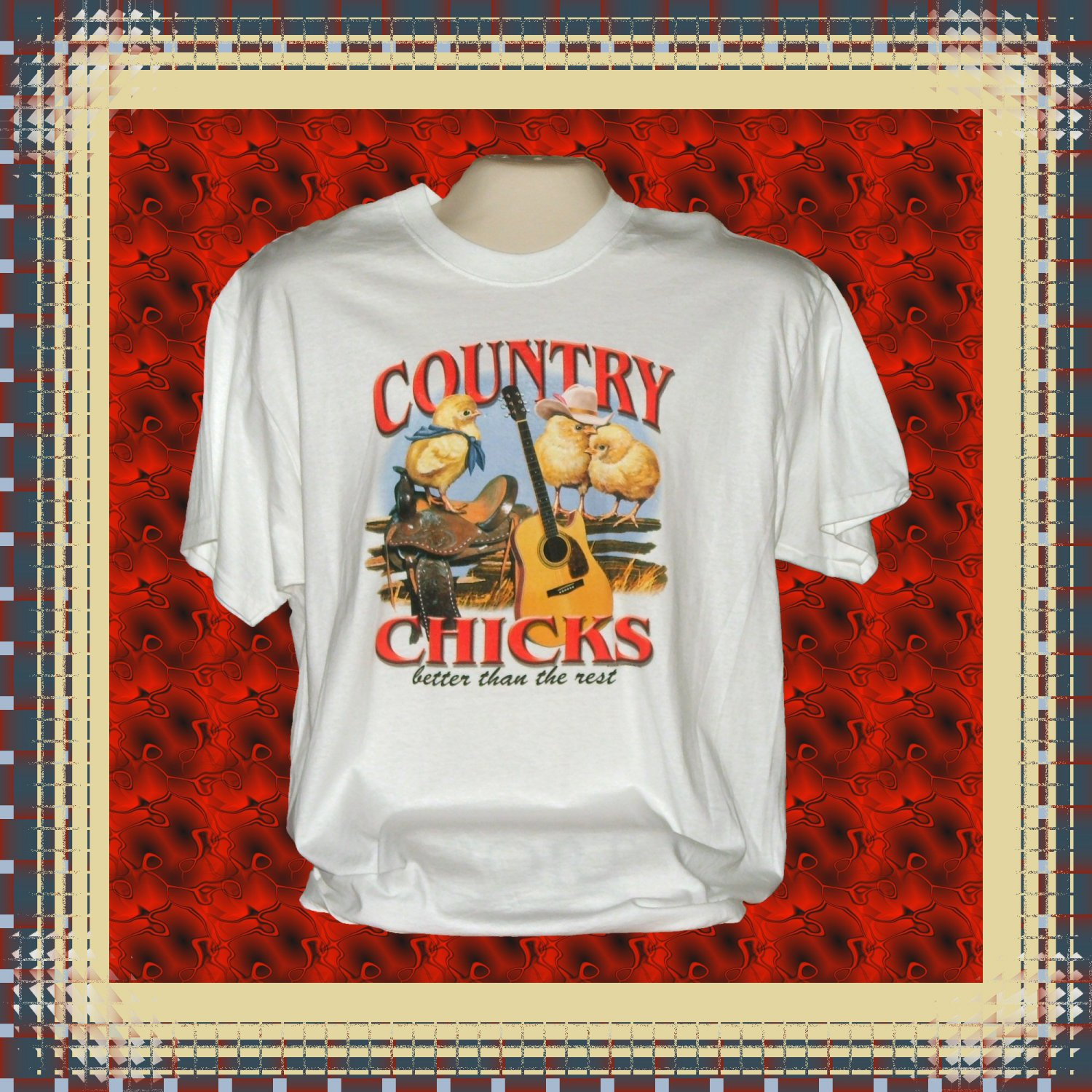 Country Chicks Better Than The Rest Cotton T-Shirt Large