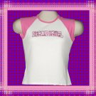 Urban Angel Pink Camouflage Ladies Cap Sleeve Raglan T-Shirt Medium