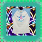 Star Flower Natural Girl Jr Ladies Cap Sleeve Raglan T-Shirt Large