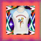 Cheer Warrior Cheerleader Jr Ladies Cap Sleeve Raglan T-Shirt XL