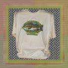 Large Mouth Bass American Fisherman Cotton T-Shirt XL