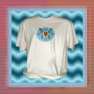 Tribal Butterfly Heart Cotton T-Shirt XL