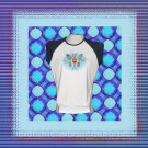 Tribal Butterfly Heart Ladies Cap Sleeve Raglan T-Shirt XL