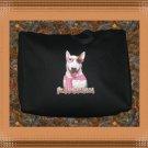 Heart breaker Girl Bull Terrier Dog Jumbo Shopping Tote Bag