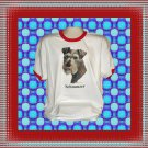 Schnauzer Dog Cotton Short sleeve Ringer T-shirt XL