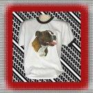 Staffordshire Bull Terrier Dog Cotton Short sleeve Ringer T-shirt Large