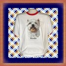 Westie West Highland Terrier Dog Cotton Short sleeve Ringer T-shirt XL