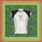 Puppy Love Dog Ladies Cap Sleeve Raglan T-Shirt MED