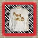 Cavalier King Charles Dog Long Sleeve Cotton T-shirt XL