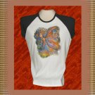 Magic Woodland Fairy Ladies Cap Sleeve Raglan T-Shirt XL