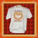 Wild Flaming Fire Heart Cotton T-Shirt MED