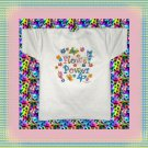 Flower Power Butterfly Cotton Blend Youth T-shirt Small 6-8