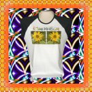 Grow with Love Sunflowers Ladies Cap Sleeve Raglan T-Shirt XL