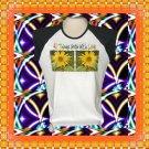Grow with Love Sunflowers Ladies Cap Sleeve Raglan T-Shirt XL