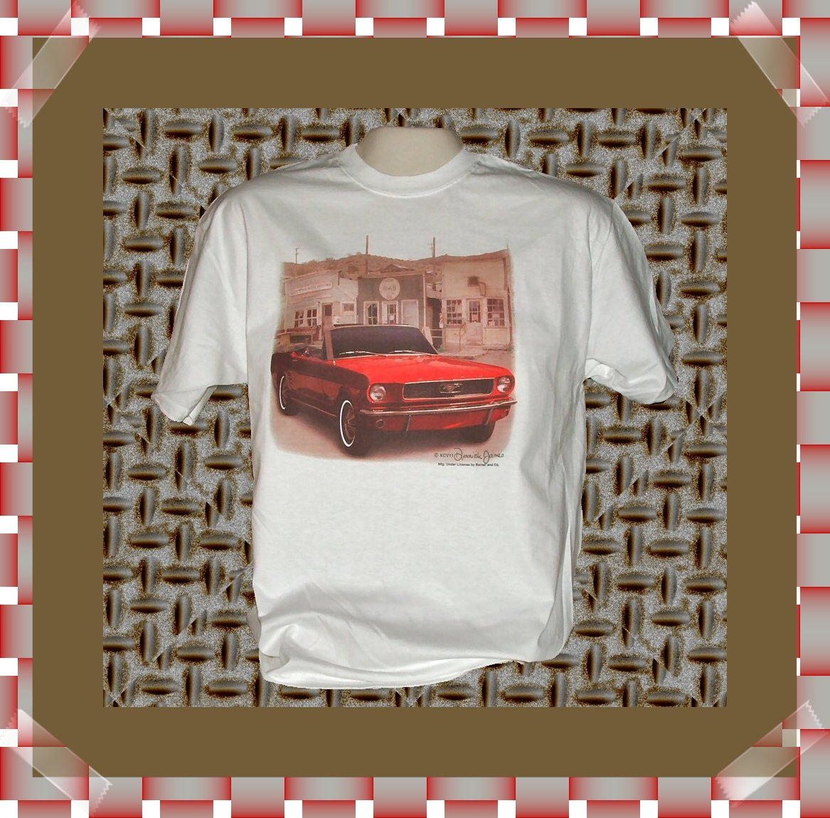 Muscle Classic Car Cotton T-Shirt Large