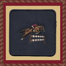 Equestrian Jumper Horse Embroidery Patch