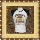 Tattooed Chicks Tattoo Art Ladies Cap Sleeve Raglan T-Shirt XL