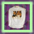My Best Friend is my Shetland Sheepdog Dog Long Sleeve Cotton T-shirt Large