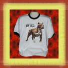 American Pit Bull Dog Cotton Short sleeve Ringer T-shirt XL
