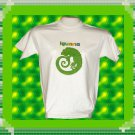 Green Iguana Short sleeve Cotton T-Shirt Natural XL
