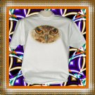 Owl Eyes Bird Cotton T-Shirt Medium