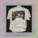 Kissing Wolves Wolf In Snow T-Shirt XL