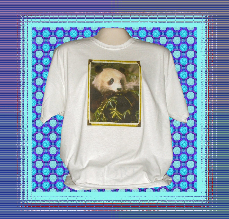 Panda Bear Eating Bamboo T-Shirt XL
