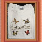 Butterfly Butterflies Collage Cotton Youth T-shirt Large