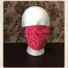 Washable Cotton Fabric Face Mask Triple Layers Red Purple Ombre Pattern