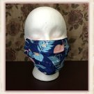 Washable Cotton Fabric Face Mask Triple Layers Ear Loops Pink Flamingo Pattern