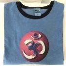Yoga Rainbow OM Pigment Dyed Ringer T-shirt