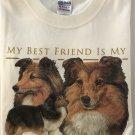 My Best Friend is my Shetland Sheepdog Long Sleeve Cotton Unisex T-shirt